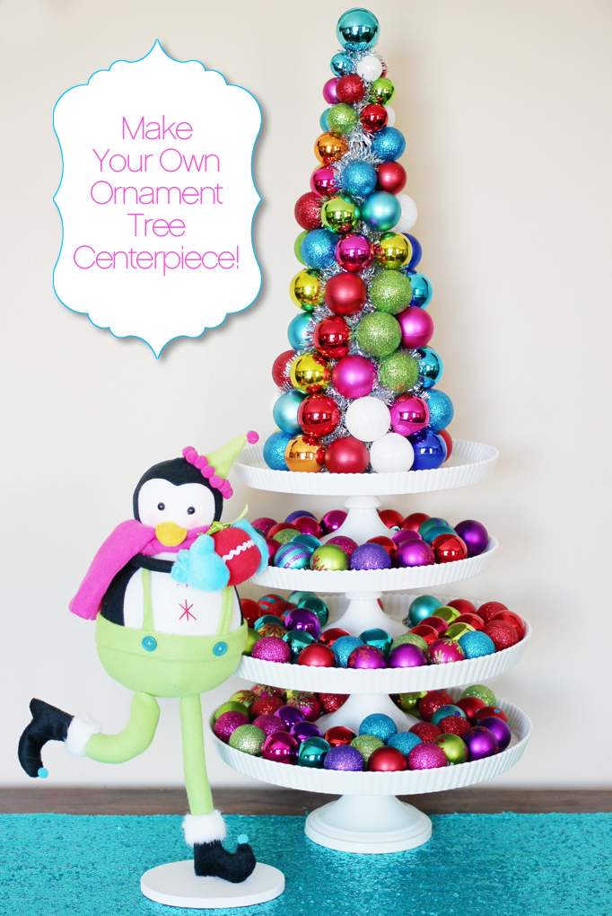Ornament Tree Centerpiece DIY