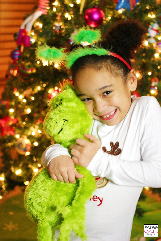 Riley with Grinch