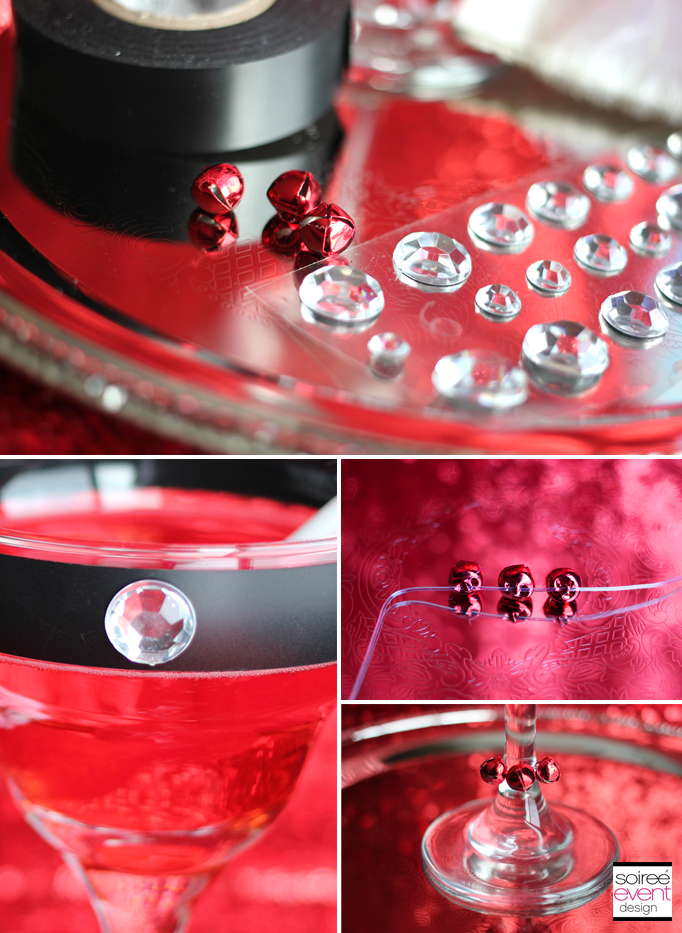Santa Sleighbell Glass Steps