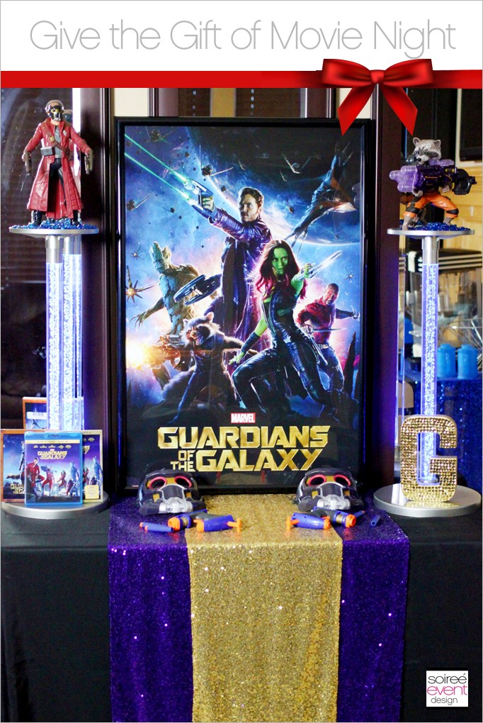 Soiree Event Design Guardians of the Galaxy Movie Night