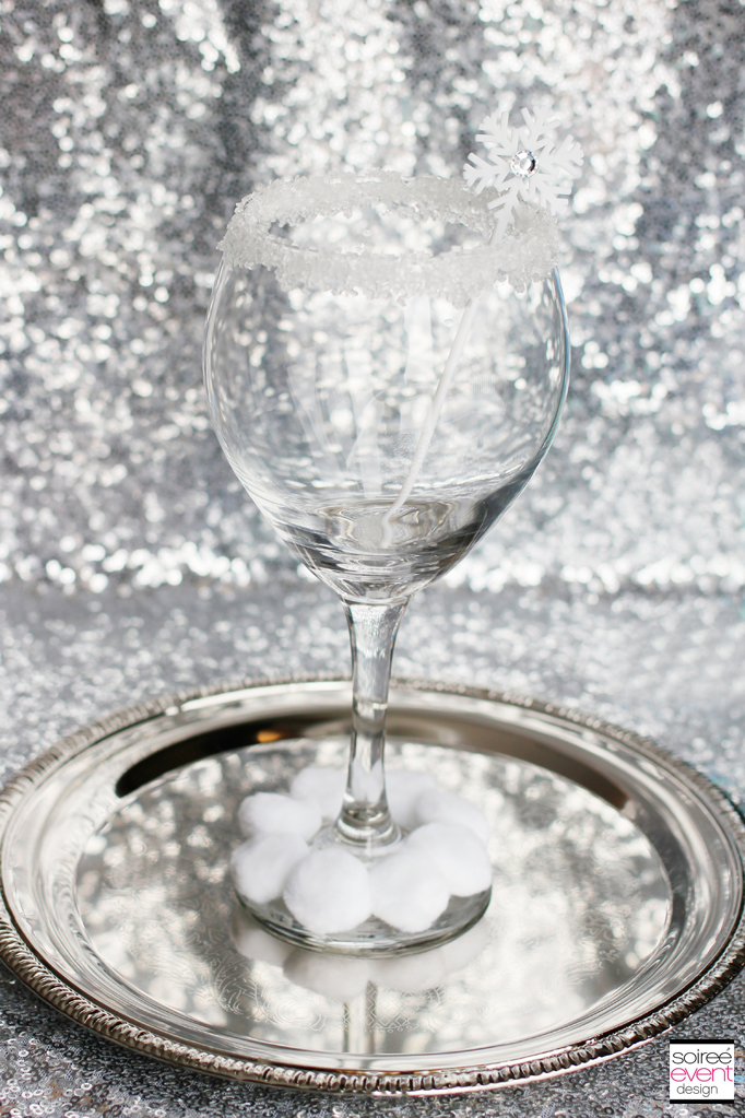 Sugar Snowball Mocktini Glass
