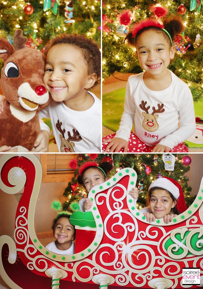 santa sleigh photo prop