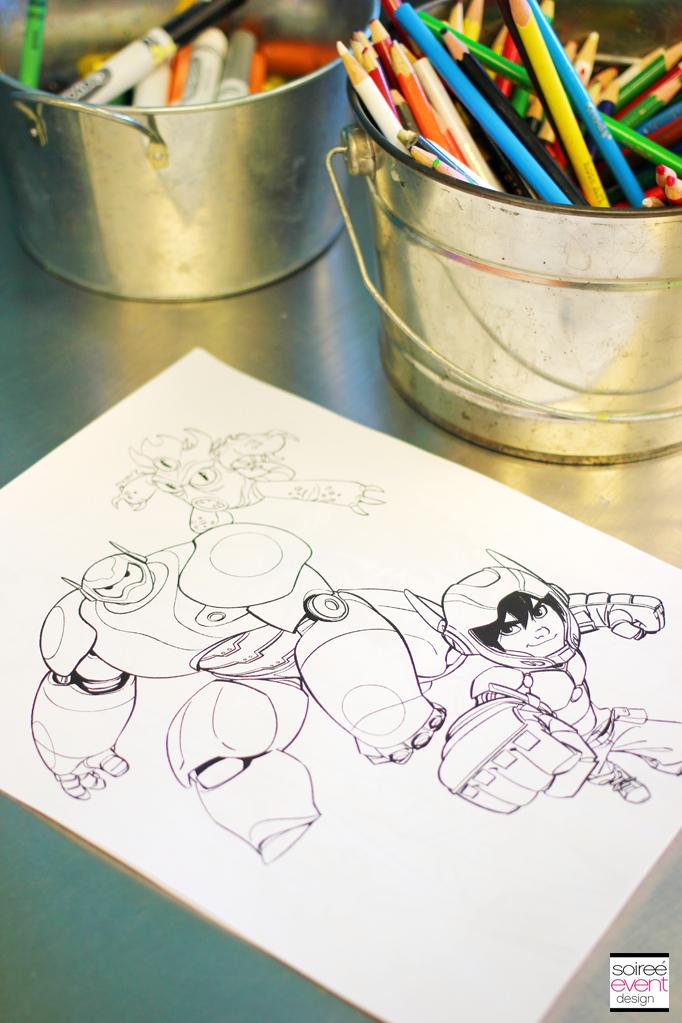 Disney Big Hero 6 Coloring Sheets