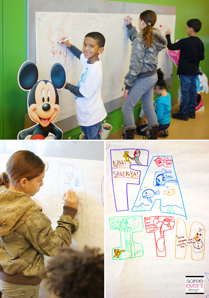 Disney Coloring Wall