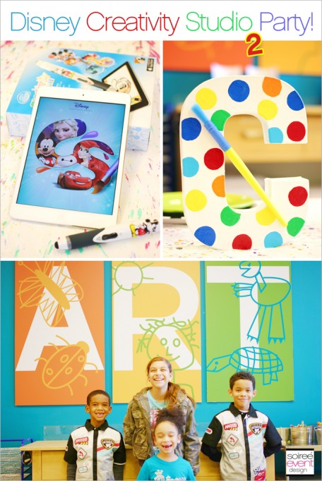 How to Throw an App Themed Art Party with Disney Creativity Studio 2