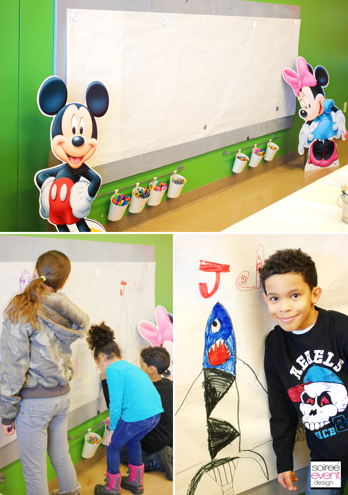 Mickey Minnie Coloring Wall