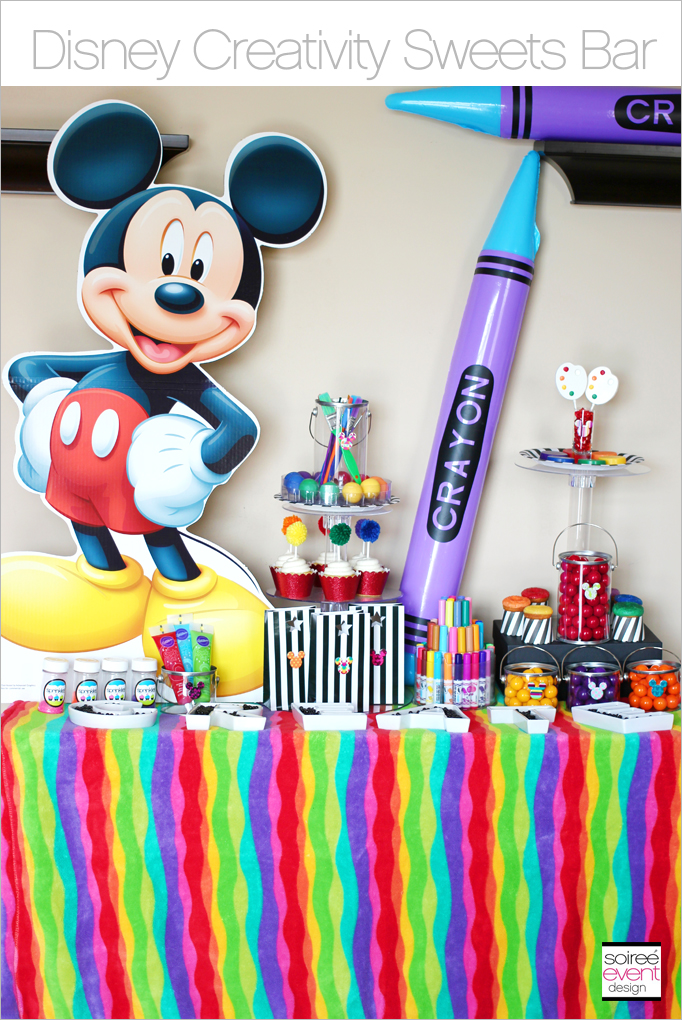 Mickey Mouse Sweets Table