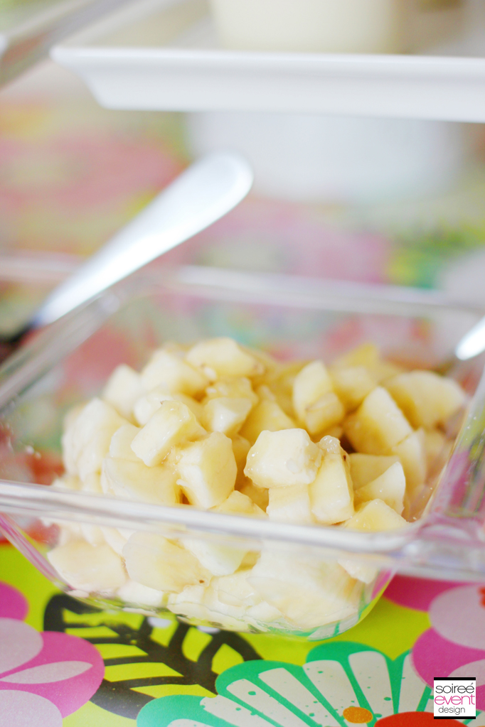 pudding cup banana topping