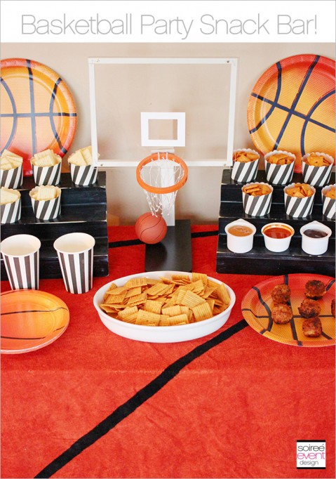 Basketball Party Snack Bar + Cheez-It Meatball Recipe!
