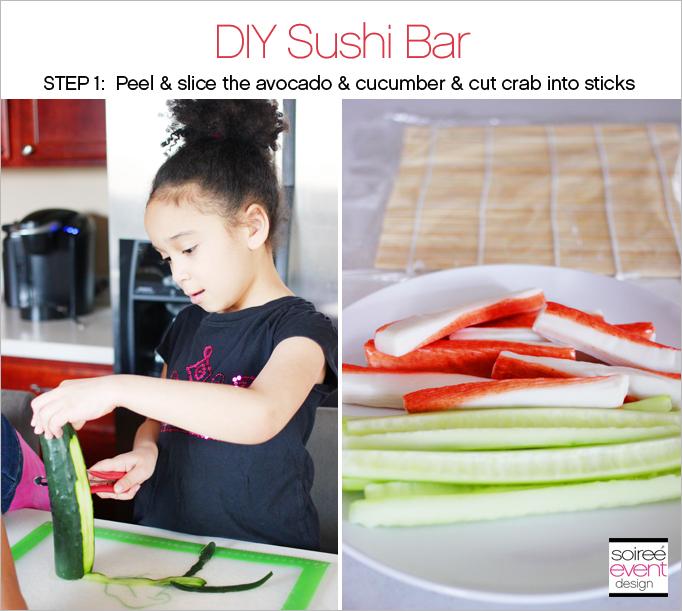 DIY Sushi Bar Step 1