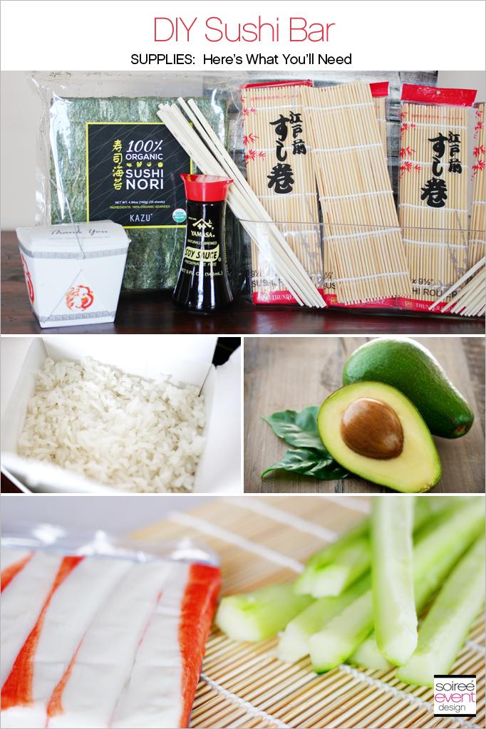 DIY Sushi Bar Supplies