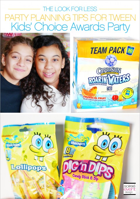 Look for Less Tips for a Nickelodeon Kids' Choice Awards Party for Tweens