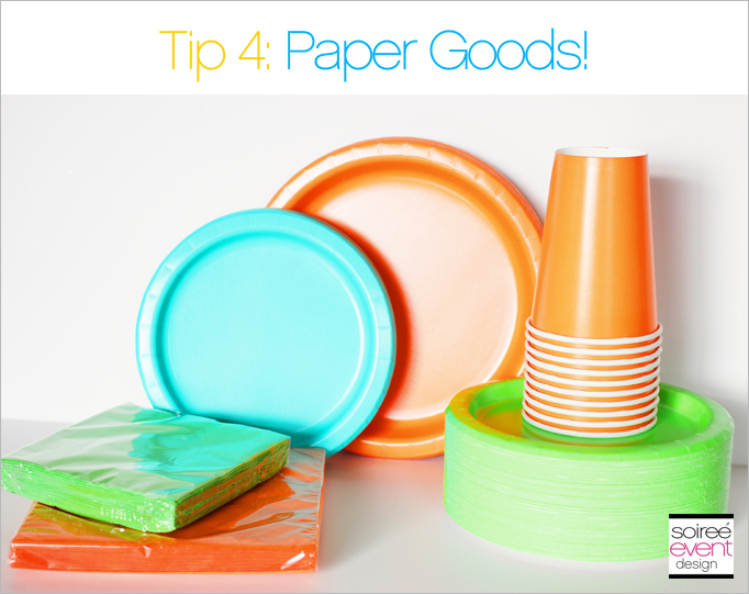 Party Planning Tip 4_Paper Goods