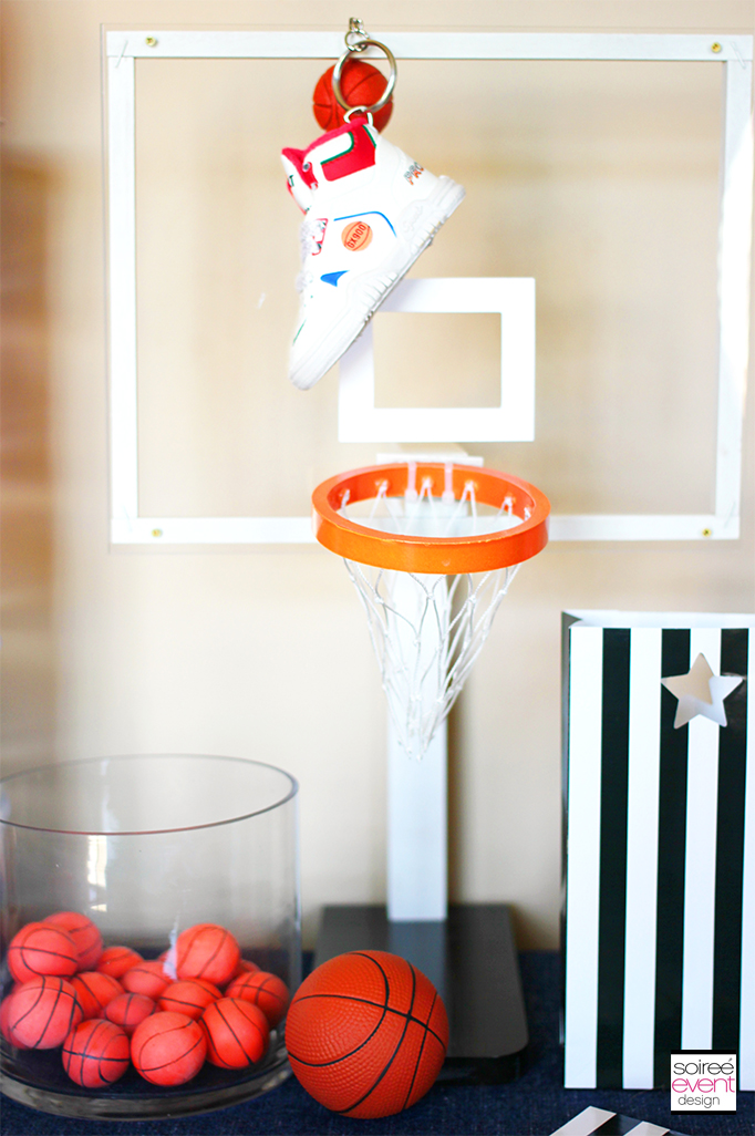 Basketball Party Ideas featuring a Skittles Candy Bar!   Soiree