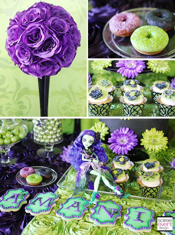 Monster High Party dessert table 2