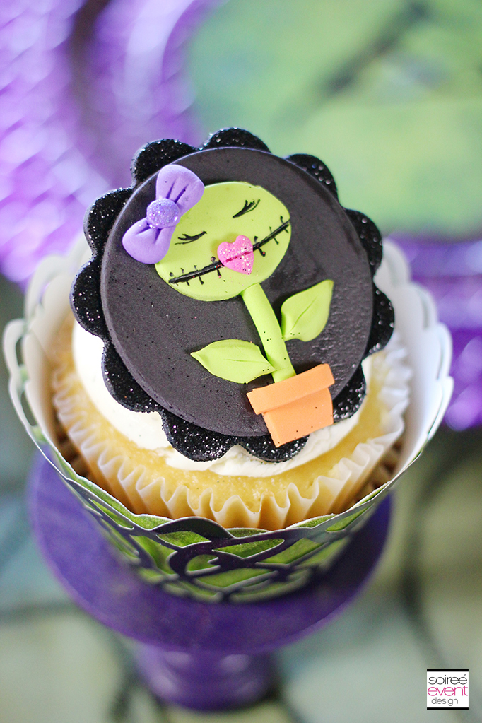 Monster High Venus Flytrap Fondant Cupcake Topper