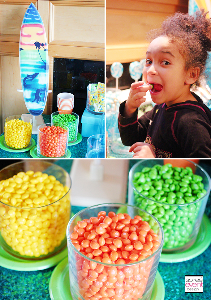 Skittles candy table