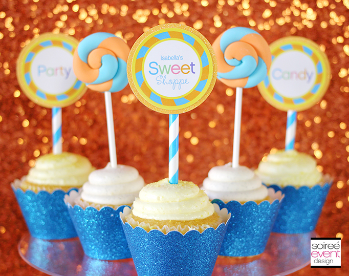 Sweet Shoppe fondant cupcake toppers
