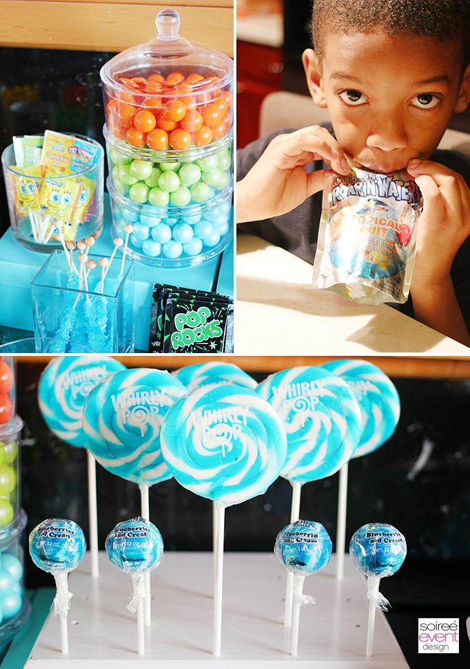 blue white swirl lollipops