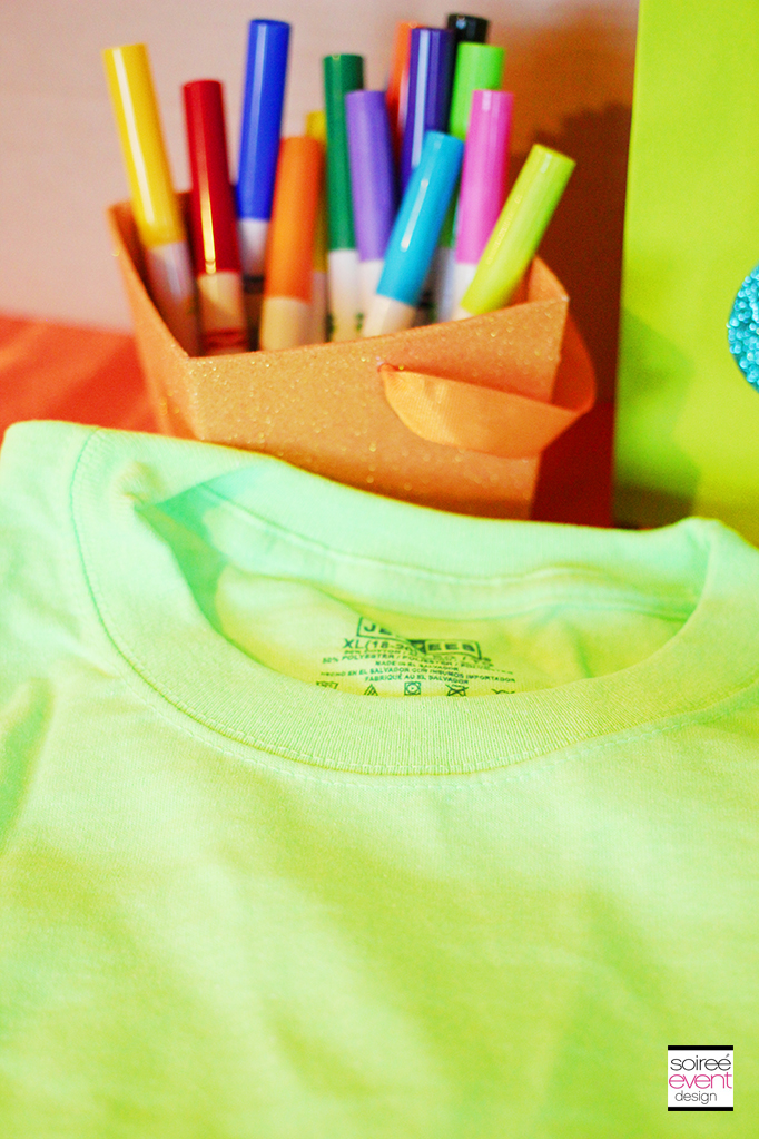 decorate tshirts party activity