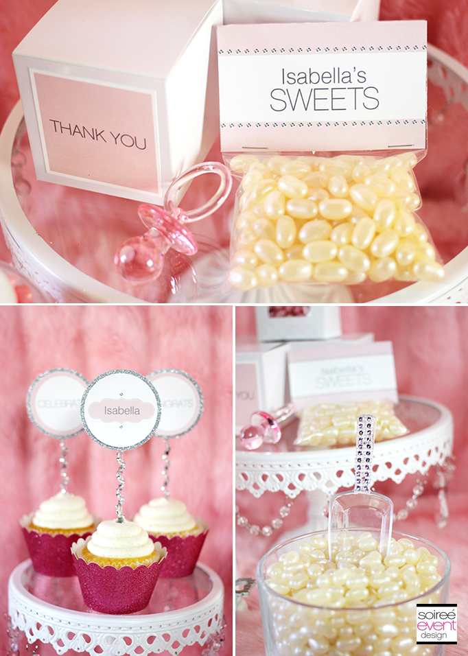 pink and white bling printables