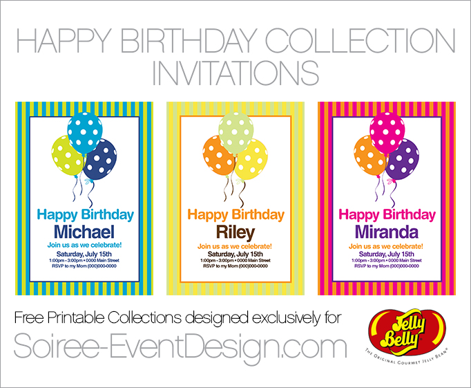 FREE Birthday Party Printables Designed Exclusively for Jelly Belly – Free Birthday Template Invitations