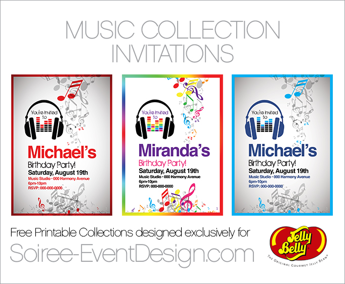Free birthday party printables designed exclusively for jelly belly free printable music party invitations filmwisefo