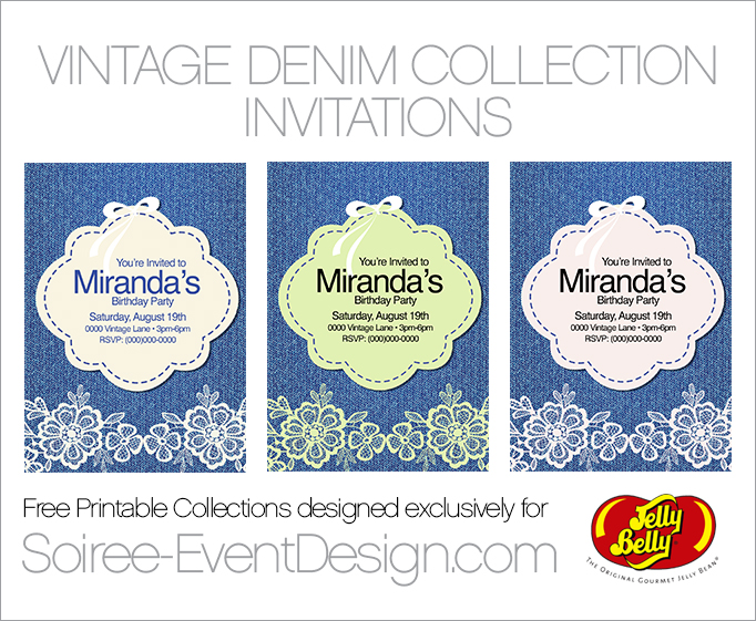 Free Printable Vintage Party Invitations