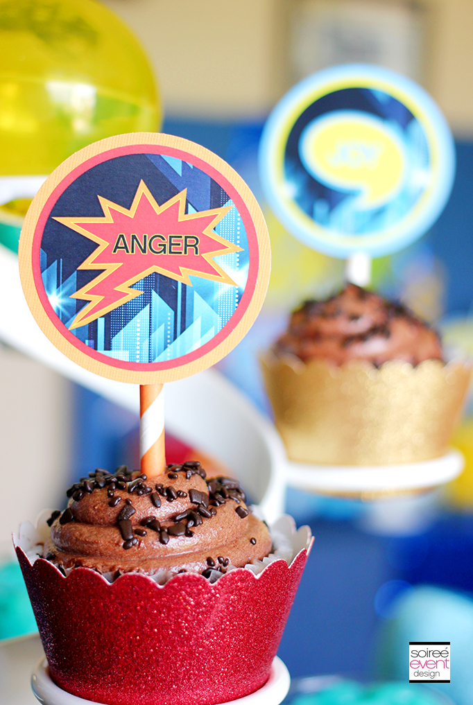 Inside Out Cupcakes and Printables