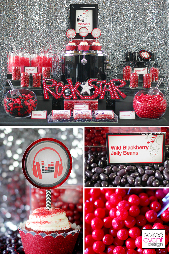 Rockstar Party Candy Table