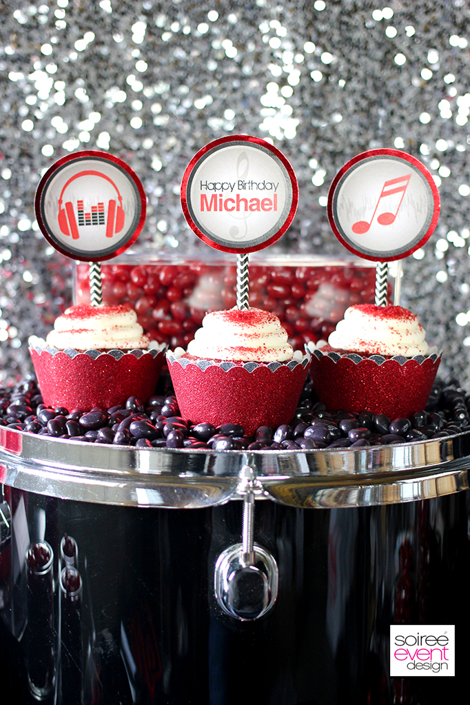 Rockstar Party Cupcake Toppers