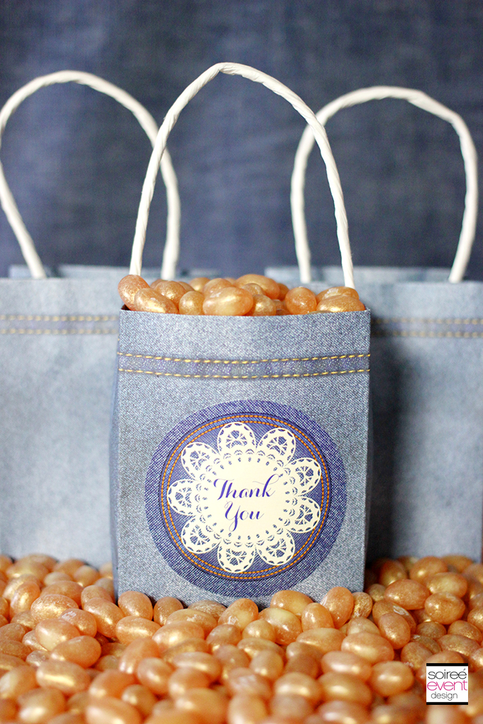 Vintage Denim Party Favor Box