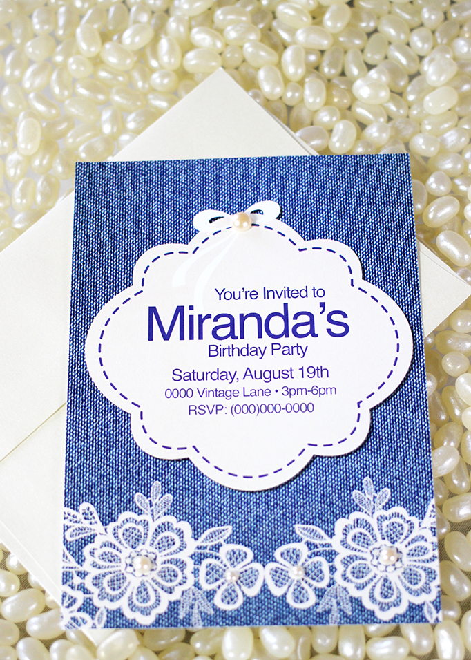Vintage Denim Party Invitation