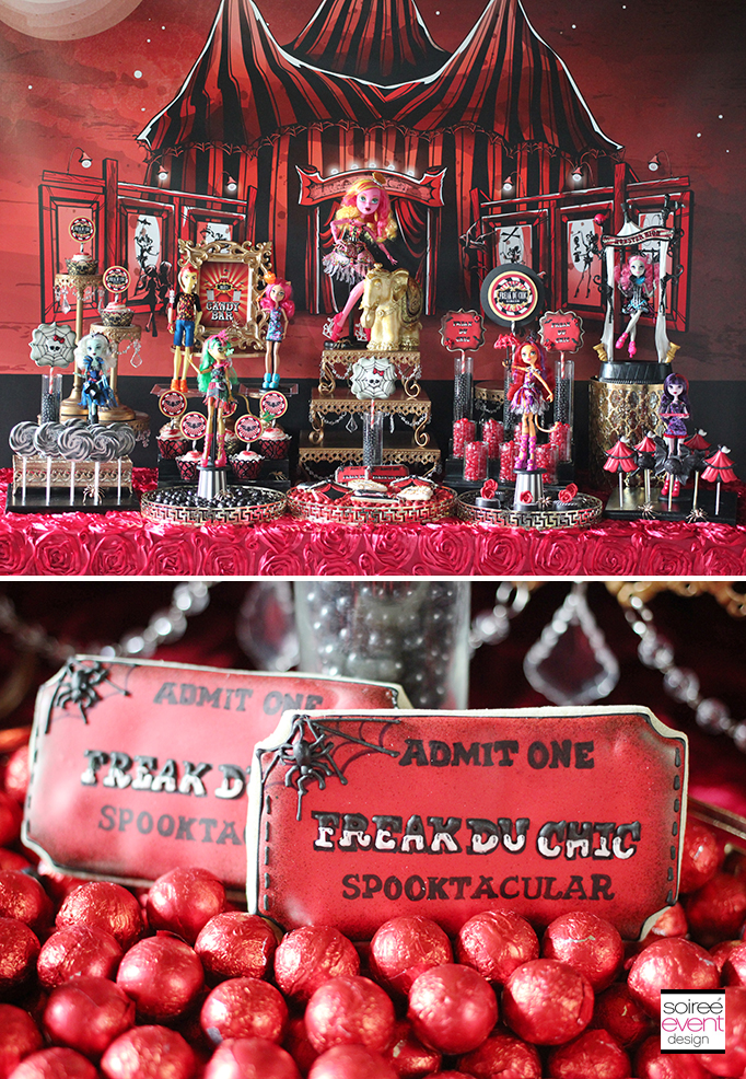 Freaky Circus printables Faith 2 Monster High Party - Freak du Chic Candy Table 2 ... & Monster High Party - Freak du Chic - Soiree Event Design