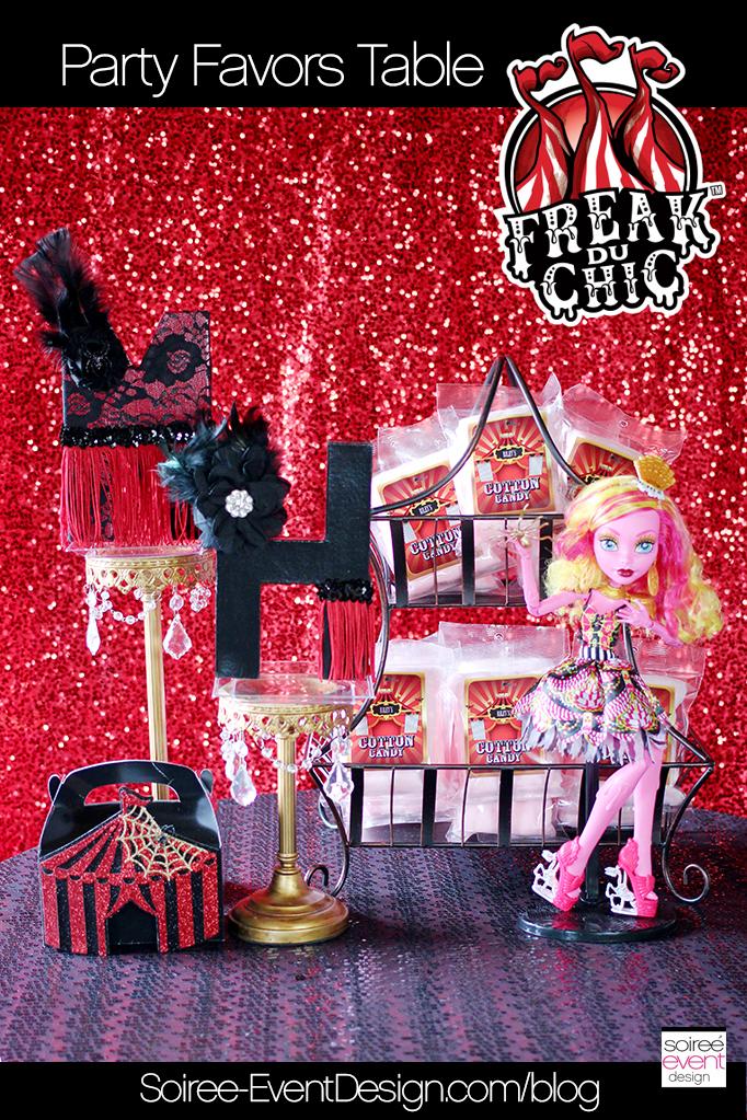 Monster High Party - Freak du Chic Favor Table