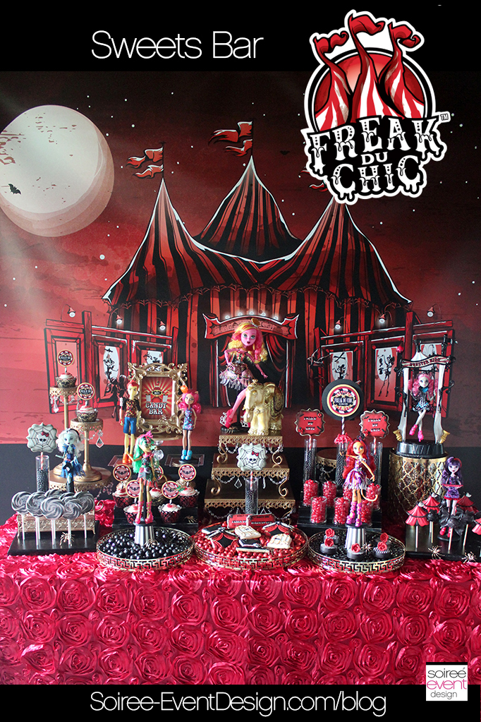 Monster High Party - Freak du Chic Sweets Table
