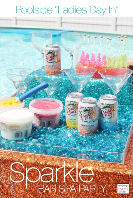 Sparkling Pool Party with Sparkle Drink & Nail Bars!