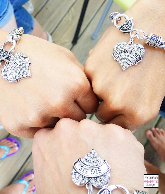 sisters charm bracelets