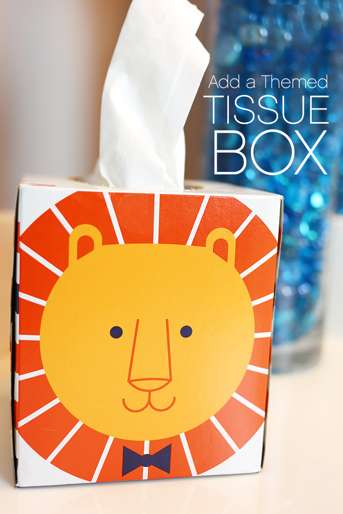 Add a themed tissue box