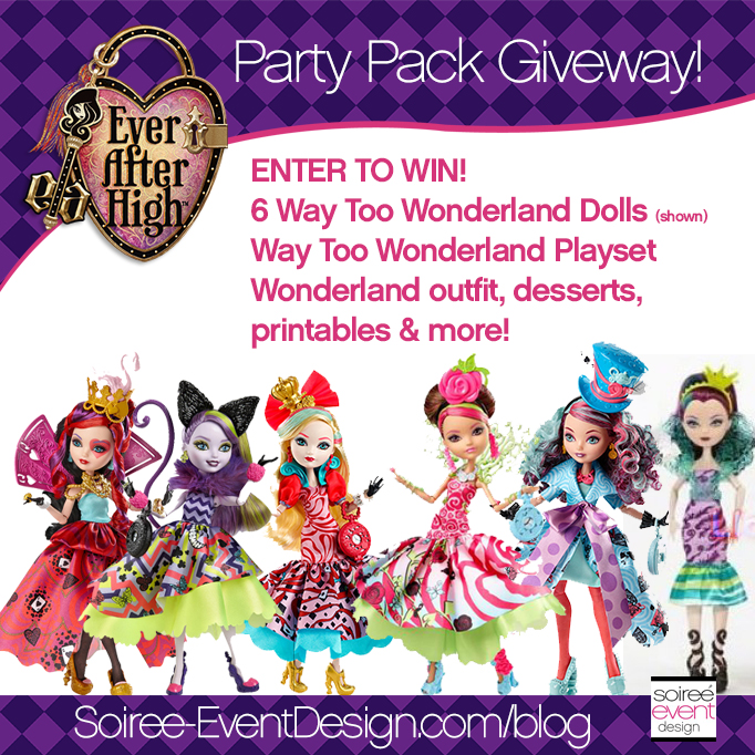Ever After High Party - Way Too Wonderland GIVEAWAY FB