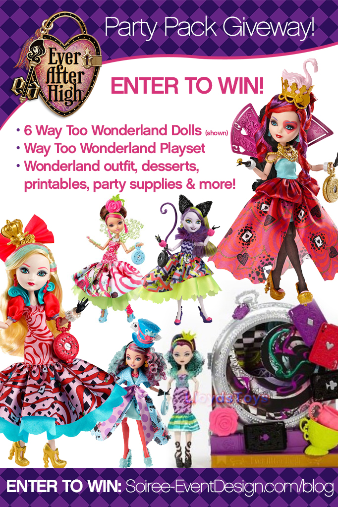 Ever After High Party - Way Too Wonderland GIVEAWAY