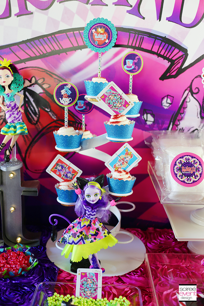 Ever After High Way Too Wonderland Party Cupcakes