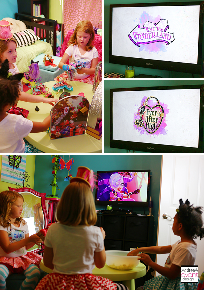 Ever After High Way too Wonderland movie party