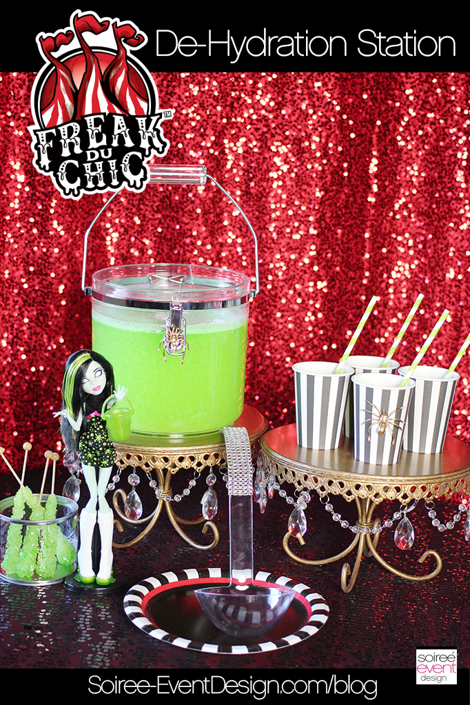 Monster High Party - Freak du Chic Drinks Table