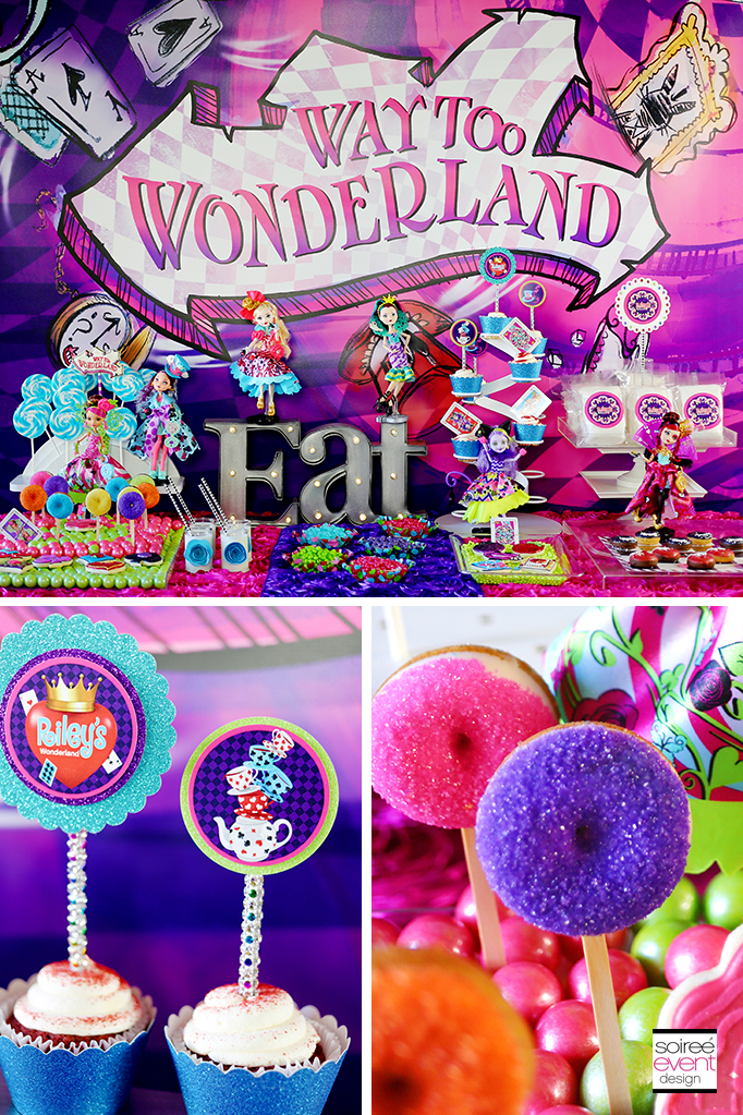 Way Too Wonderland Sweets Table