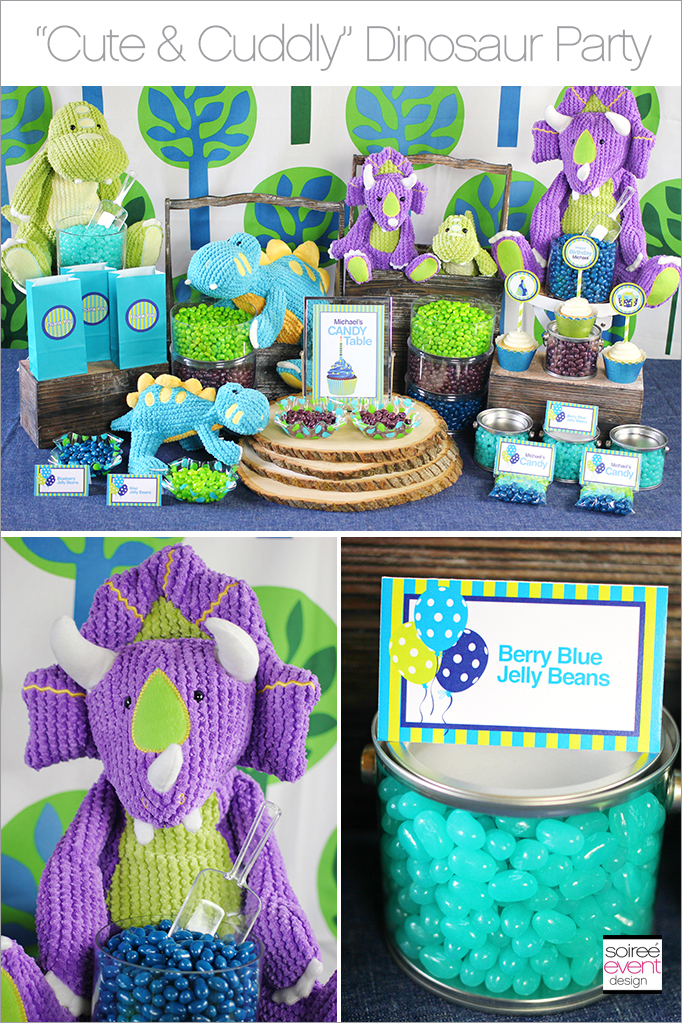 Cute Cuddly Dinosaur Party Soiree Event Design