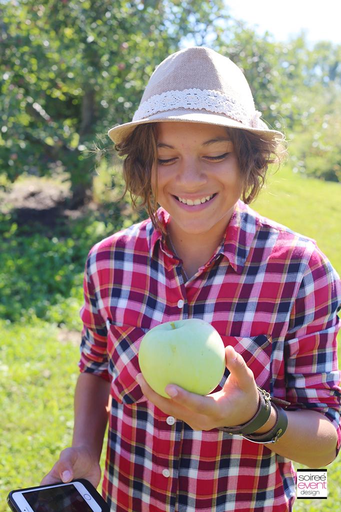 Faith apple picking