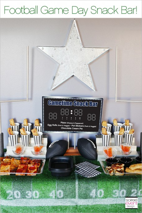 How to Set Up a Football Game Day Snack Bar!