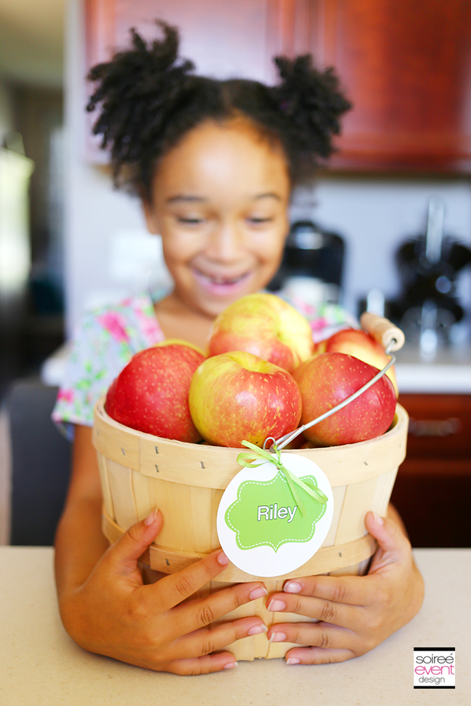 Riley with apple basket