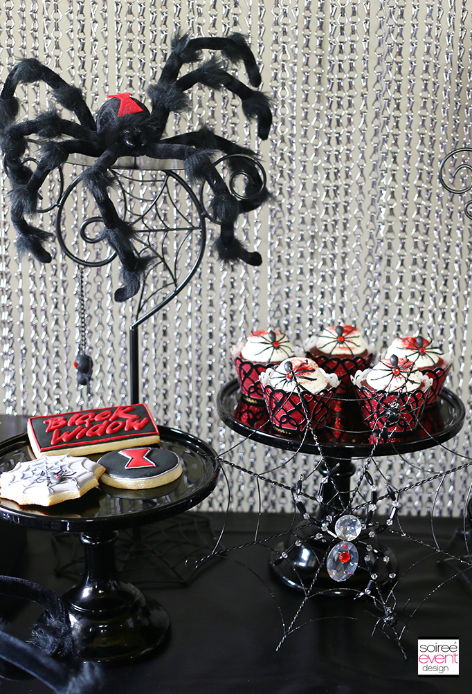 Black Widow Dessert Table 2